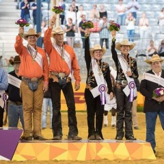 Brons voor Nederlands Reining team EK 2015 in Aken